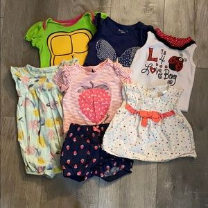 Lot of Six 3-6 Month Infant Tops